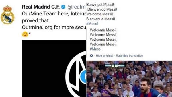 Hackeo a la cuenta del Madrid