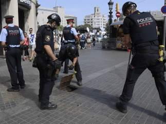 Mossos, antes de la manifestación