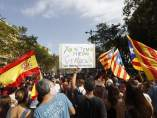 Esteladas y banderas de España