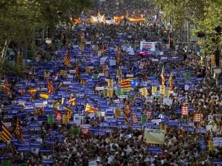 La marcha 'No tinc por' recorre las calles de Barcelona