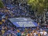 Manifestación en las calles de Barcelona contra el terrorismo