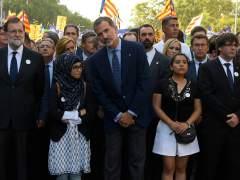 Rajoy, el rey y Puigdemont.