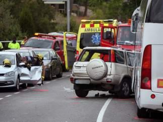 Accidente de coche en Salou