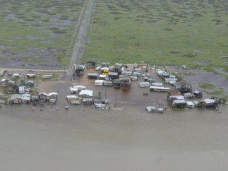 Zona inundada en Texas