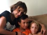 Juana Rivas junto a sus hijos, en una imagen de archivo