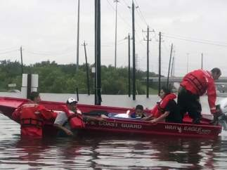 Labores de rescate en Texas tras 'Harvey'
