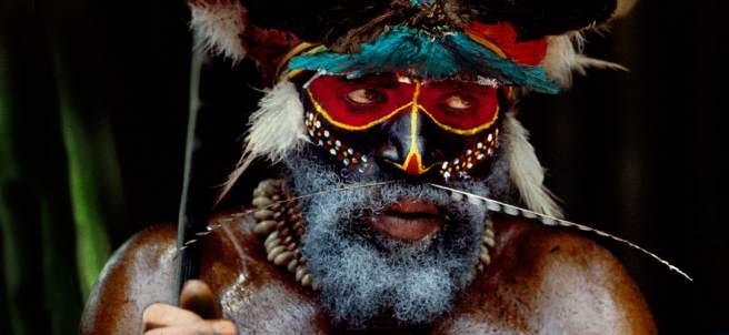 Guerrero de la tribu Melpa