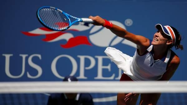 Garbiñe Muguruza en el US Open de 2017