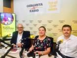 Lluís Corominas (JxSí), Gabriela Serra (CUP) y Jordi Orobitg (JxSí).