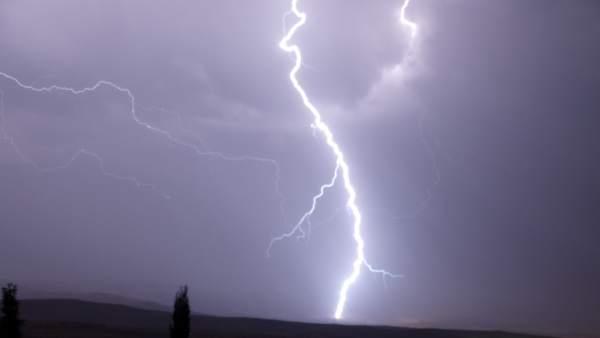 Rayos en una tormenta.