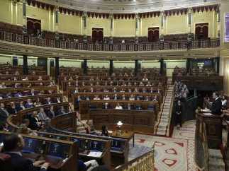 Rajoy se dirige a los parlamentarios