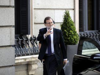 Llegada de Rajoy al Congreso