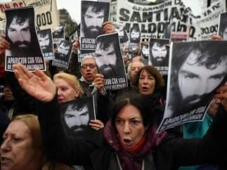Santiago Maldonado, protestas, manifestación, Argentina