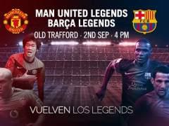 Amistosos viejas glorias United - Barça