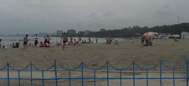 Playa de Wonsan, en Corea del Norte