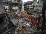 Edificio derrumbado en India