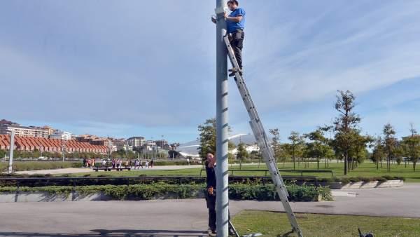 Sensores de riego inteligente de Santander