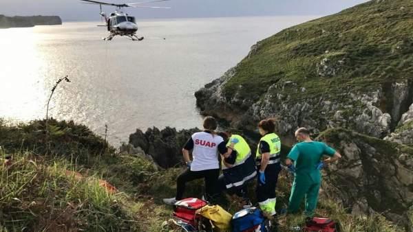 Rescate acantilados Pechón