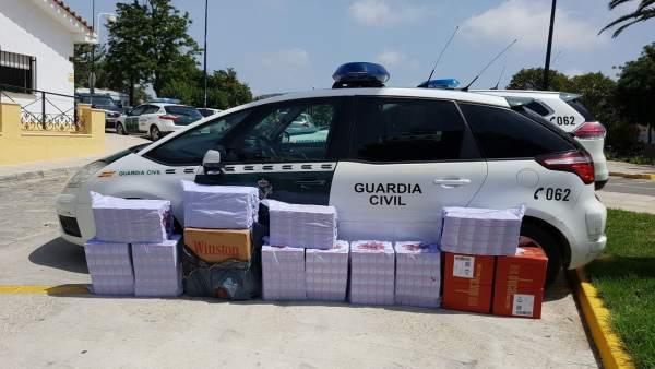 Guardia Civil interviene tabaco de contrabando