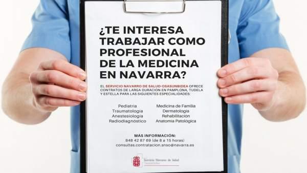 Imagen de la campaña de captación de profesionales de Medicina.