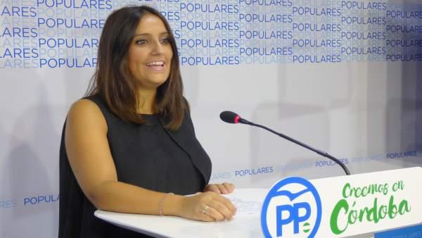 Beatriz Jurado en la sede del PP de Córdoba