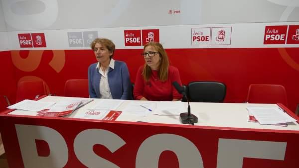 La candidata a la secretaría general del PSOE de Ávila, Carmen Iglesias