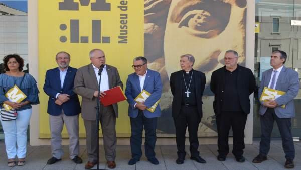El conseller de Cultura, Lluís Puig, se ha reunido con el Museo de Lleida.
