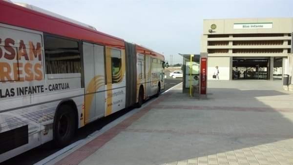 La ruta 'exprés' de Tussam a la Cartuja.