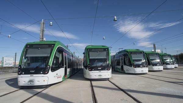 Vagones del Metro de Granada