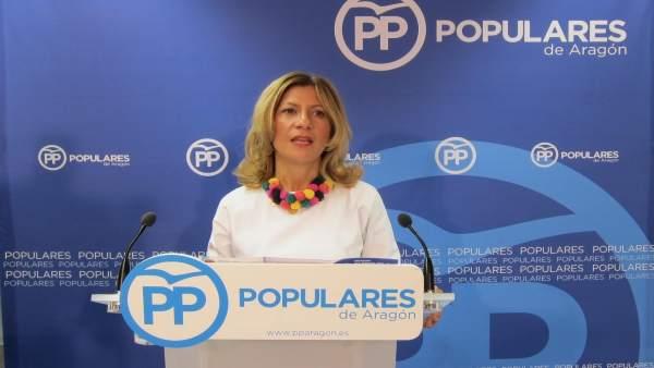 La secretaria general del PP Aragón, Mar Vaquero
