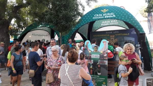 Zona recreativa de Caja Rural con motivo de La Vuelta