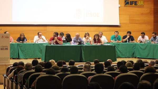 Reunión del Comité Provincial del PSOE de Jaén que ha convocado el congreso.