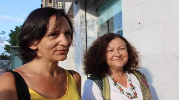 Carolina Bescansa y Mae de la Concha