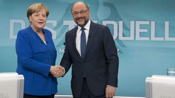 Debate entre Merkel y Schulz
