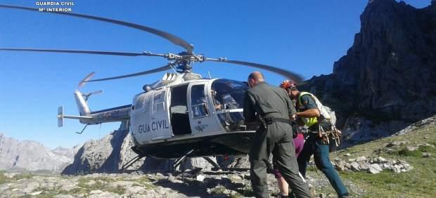 Rescate del montañero en el Curavacas.