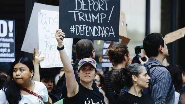 Protestas tras la prohibición del DACA