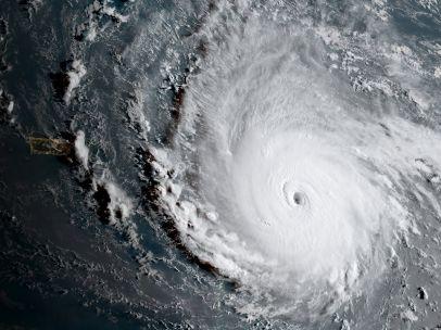 El ojo del huracán Irma