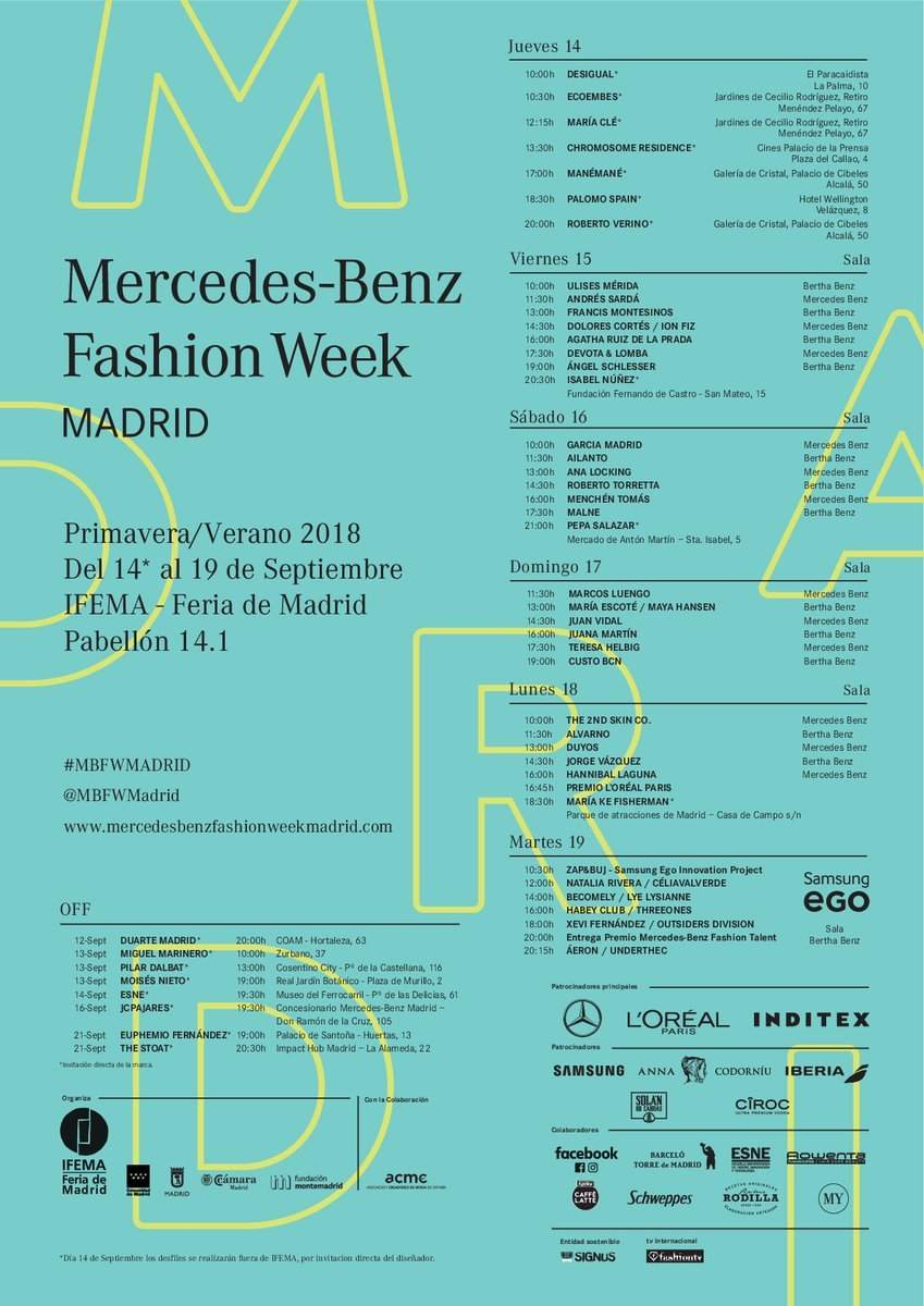 Fashion Week Madrid Primavera 2017/2018