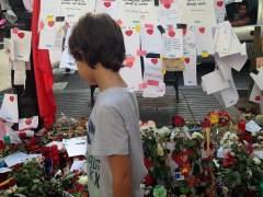 Un homenaje del atentado de La Rambla, ante la Boqueria, Barcelona