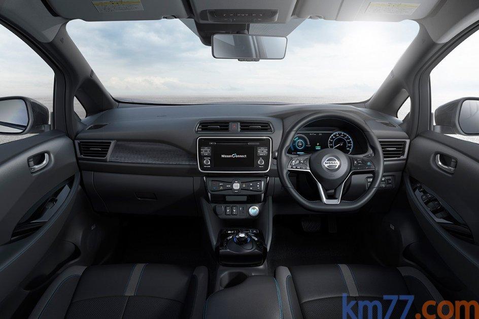 Interior del Nissan LEAF
