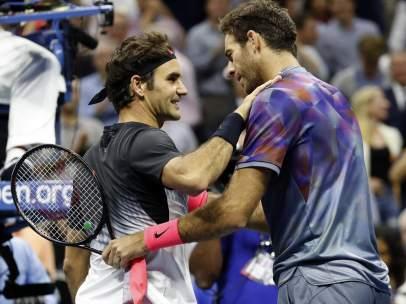 Roger Federer y Del Potro