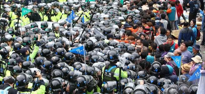 Corea del Sur, protestas, escudo antimisiles