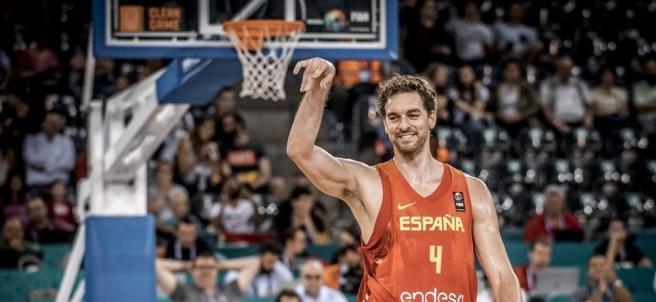 Pau Gasol con la selección española