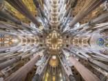 Interior de la basílica de la Sagrada Família de Barcelona