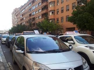 Manifestación de autoescuelas por la huelga de examinadores