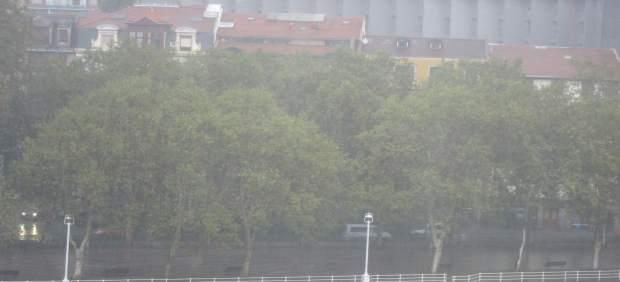 Fuertes lluvias en Bilbao