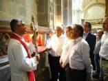 Revilla y López Obrador en el monasterio de Santo Toribio de Liébana