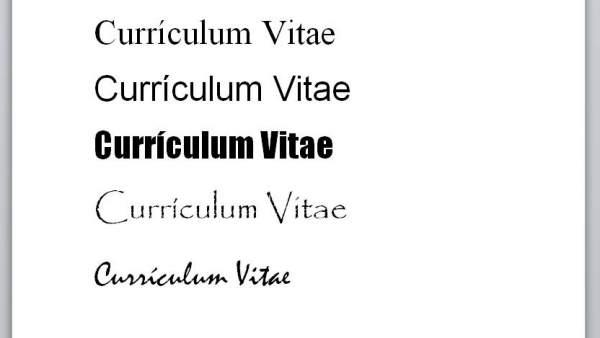 Los Cinco Tipos De Letra Que No Debes Usar En Tu Curriculum
