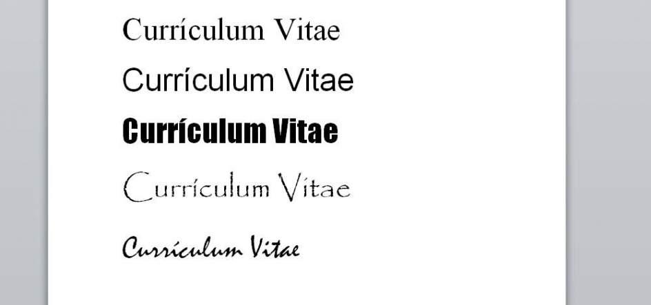 Los cinco tipos de letra que no debes usar en tu currículum
