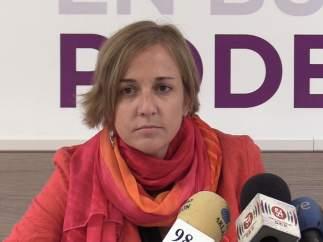 La parlamentaria de Podemos Tania Sánchez